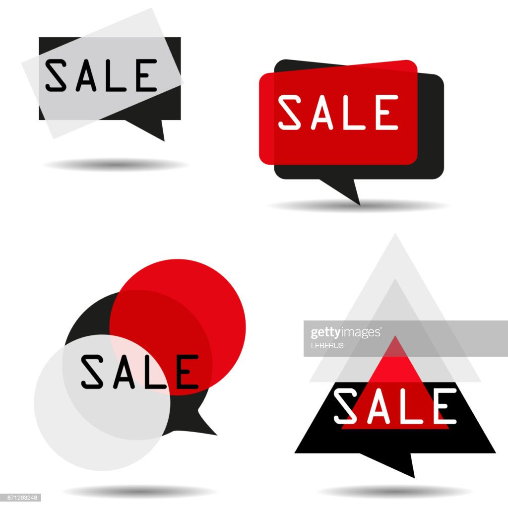 Square, rectangle, circle and triangle. Windows labeling. Sale frame