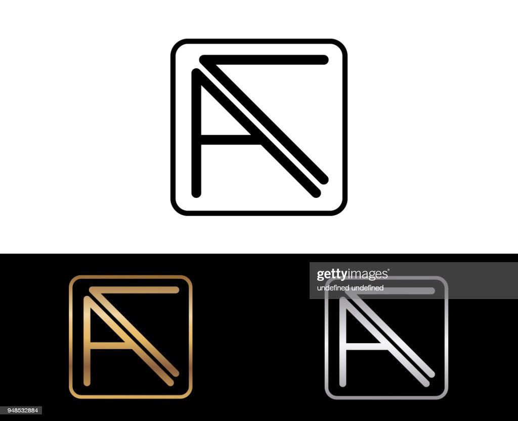 AC Square Shape Letter Design