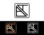 BA Square Shape Letter Design