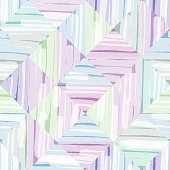 Square shape watercolor seamless pattern abstract background in cool tone