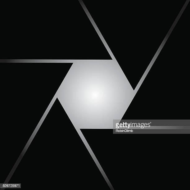 square shutter icon - aperture stock illustrations, clip art, cartoons, & icons