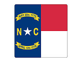 Square State Flag of North Carolina