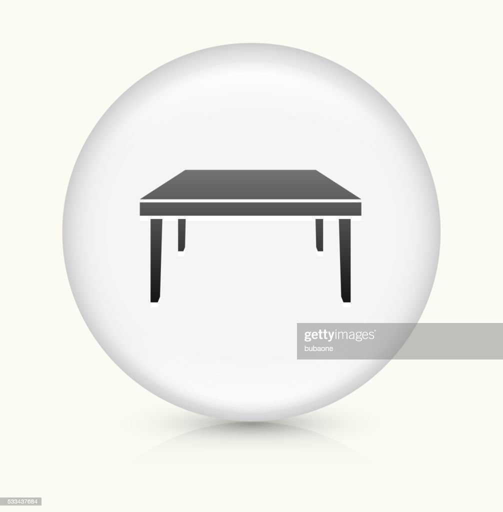 Square Table icon on white round vector button