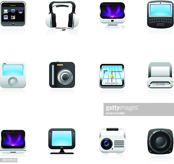 Square Technology/Electronics Icons