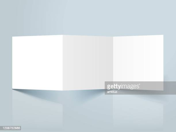 square threefold template - foldable stock illustrations