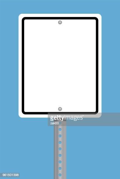 square traffic sign - road sign stock illustrations, clip art, cartoons, & icons