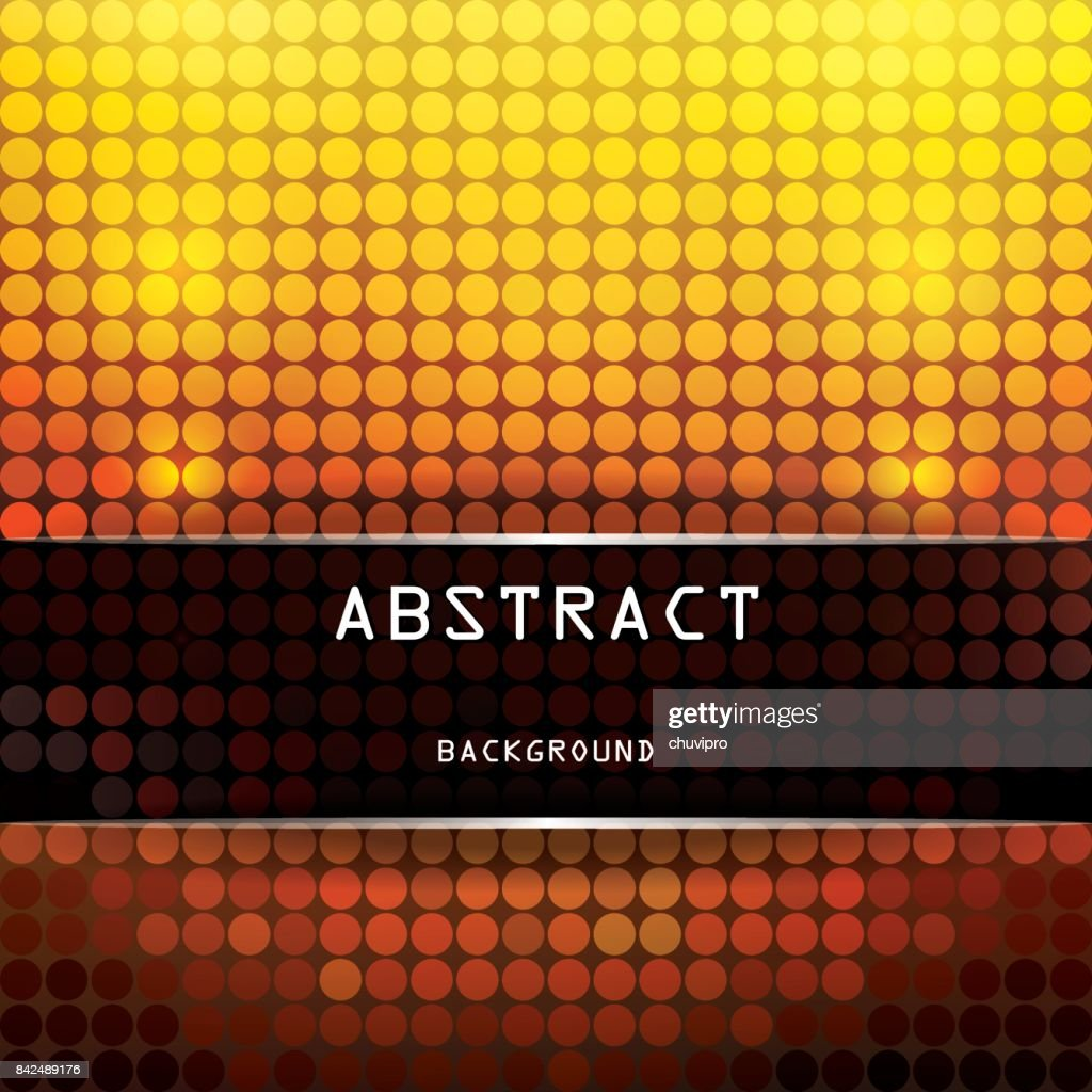 Square Vibrant Abstract Background With Circles Yellow