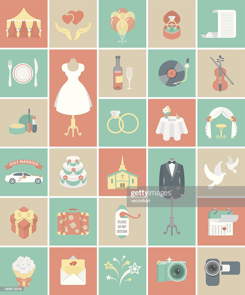 Square Wedding Icons