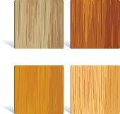 Square wood tile