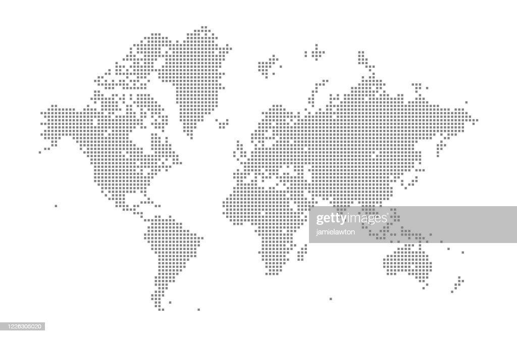 Carte du monde carré : Illustration