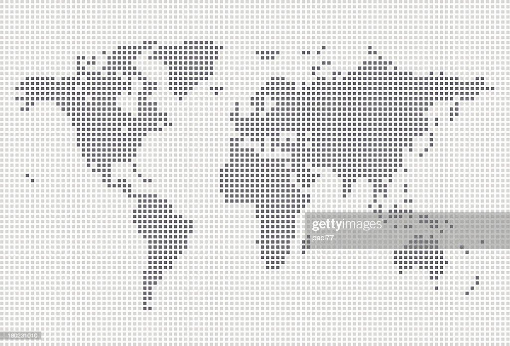 Squares world map vector art getty images squares world map vector art gumiabroncs Choice Image