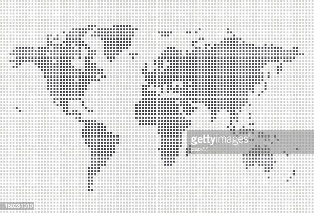 squares world map - square composition stock illustrations, clip art, cartoons, & icons