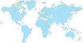 Squares world map