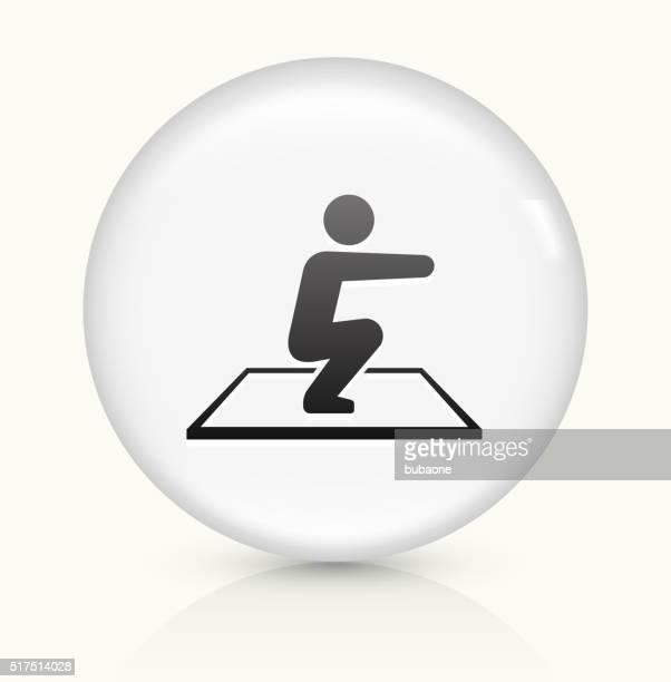 Squat icon on white round vector button