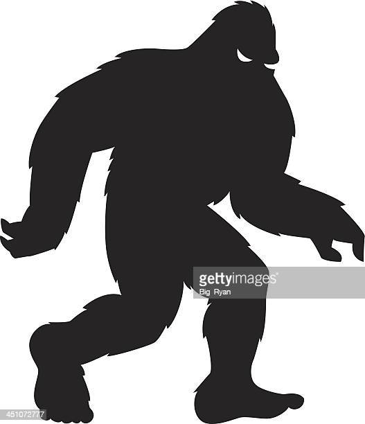 squatchin - bigfoot stock illustrations