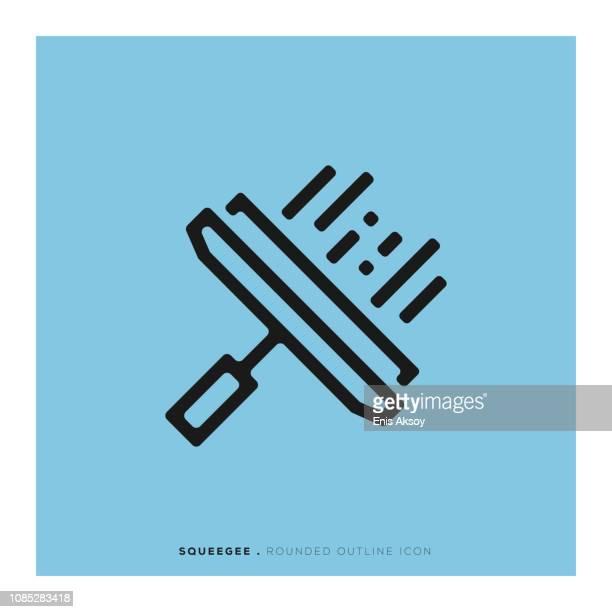 Zuigmond afgeronde lijn pictogram