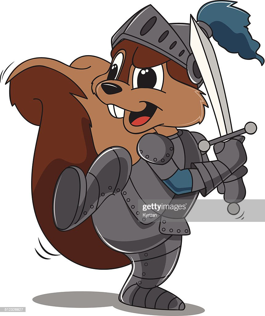 Squirrel as a Handsome Knight