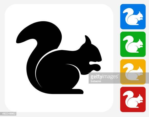 squirrel icon flat graphic design - squirrel stock illustrations