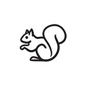 Squirrel sketch icon