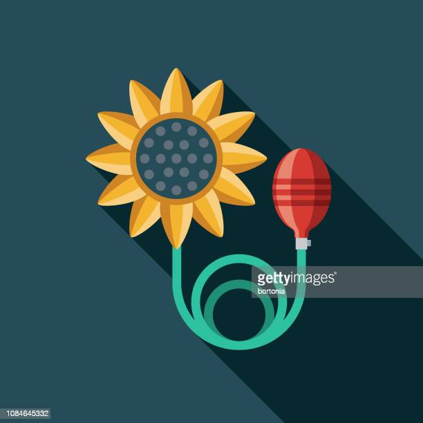 squirting flower flat design april fools day icon - april fools day stock illustrations
