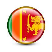 Sri Lanka Flag Glossy Icon. Vector Illustration