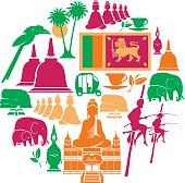 Sri Lanka Icon Set