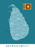Sri Lanka Infographic Map