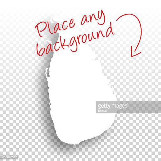 Sri Lanka Map For Design Blank Background Stock Illustration - Getty ...