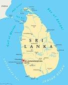 Sri Lanka Political Map