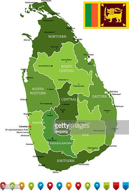 スリランカベクトルマップ - スリランカ点のイラスト素材/クリップアート素材/マンガ素材/アイコン素材