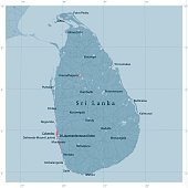 Sri Lanka Vector Road Map