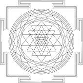 Sri Yantra Mandala (Construction / Line drawing)