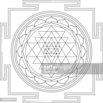 Sri Yantra Mandala stock illustration - Getty Images