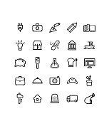 série de pictogrammes des métiers