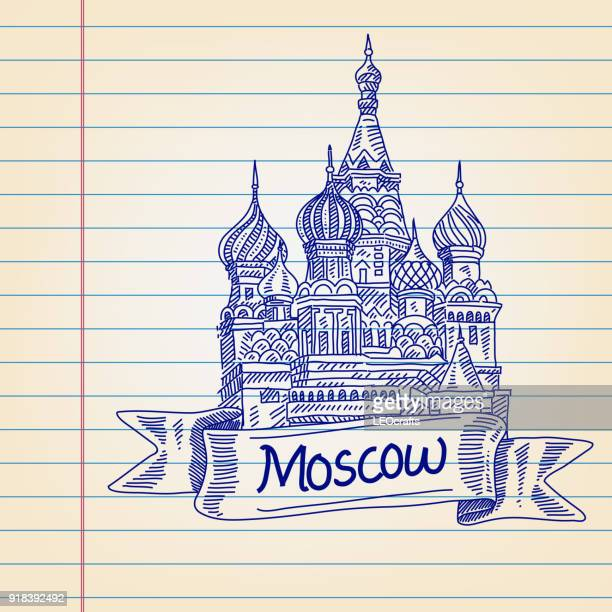 St. Basil Cathedral, drawing on Lined paper