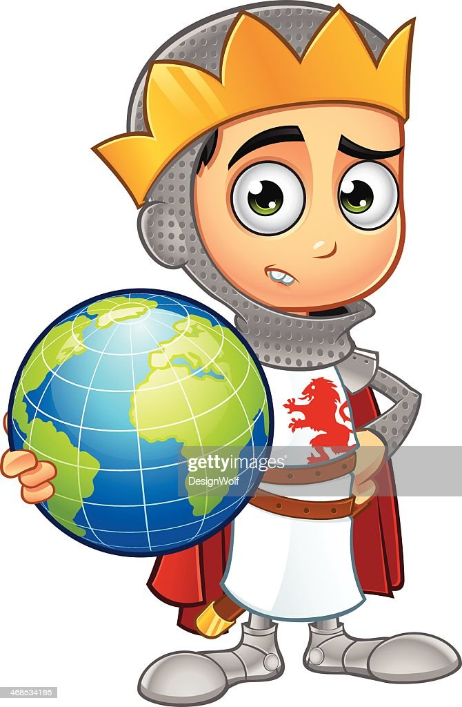 St George Boy King - Holding A Globe
