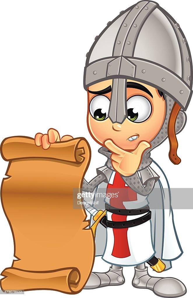 St George Boy Knight - Holding A Scroll