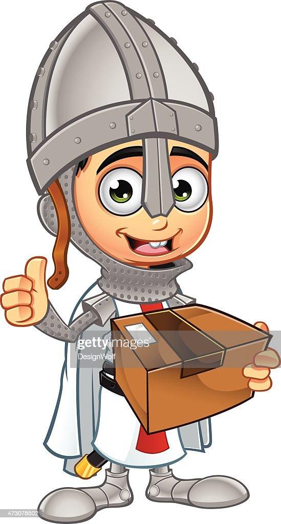 St George Boy Knight - Holding Parcel
