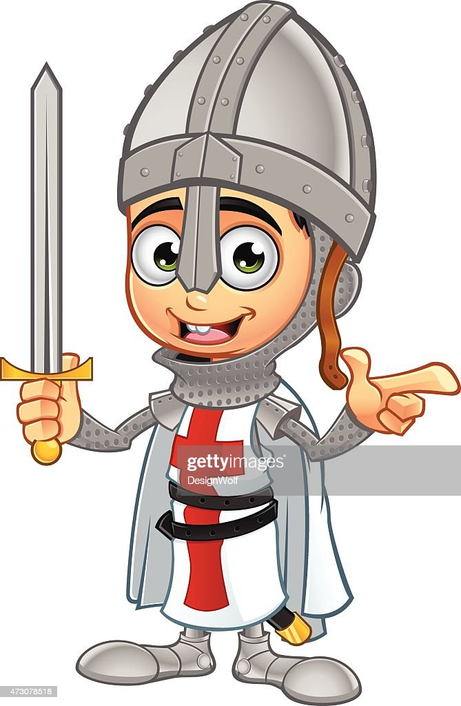 St George Boy Knight - Pointing