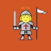 St. Joan of Arc, Cartoon.