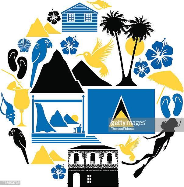 St .Lucia アイコンセット