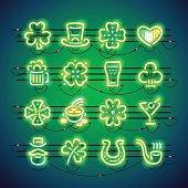 St Patrick Neon Icons