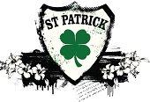 st patrick shield with shamrock