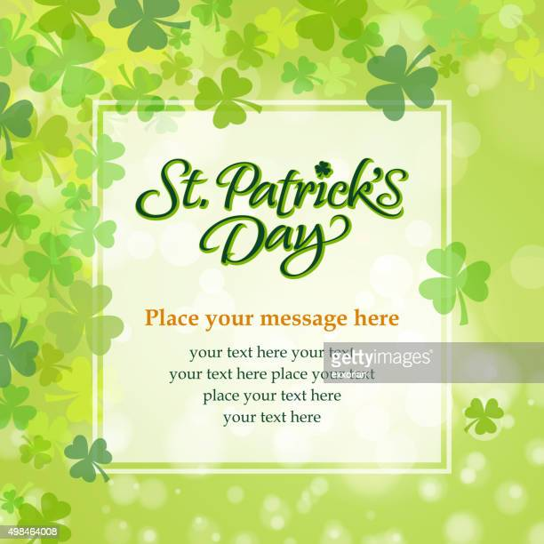 St patrick's clover message