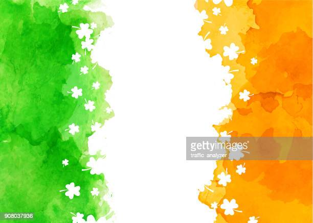 st. patrick's day background - day stock illustrations