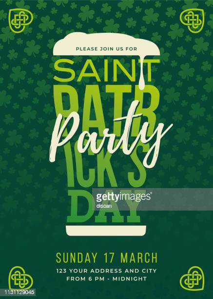 st. patrick's day beer festival - day stock illustrations