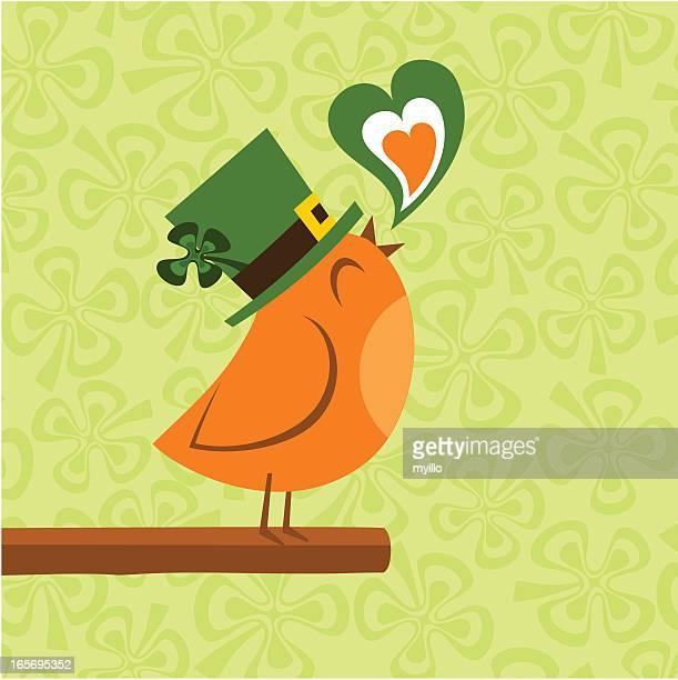 ilustrações de stock, clip art, desenhos animados e ícones de st. patricks dia - canto de passarinho