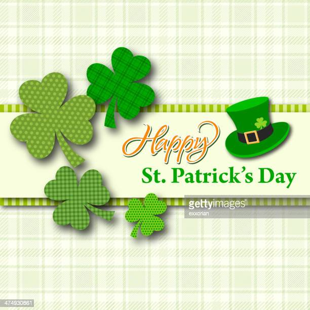 st patrick's day card - st. patrick's day stock illustrations, clip art, cartoons, & icons