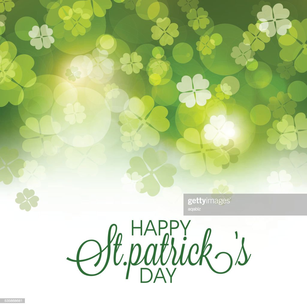 St. Patrick's Day celebration greeting card.