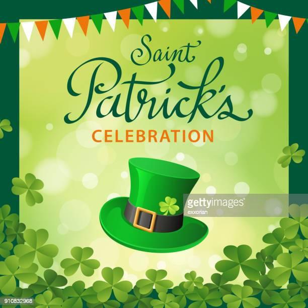 st. patrick's day celebration - st. patrick's day stock illustrations, clip art, cartoons, & icons